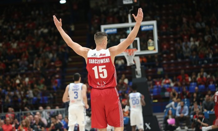 Tarczewski Kaleb AX Armani Exchange Milano - Happy Casa Brindisi Campionato Legabasket 2018/2019 - LBA Milano 07/10/18 Ciamillo - Castoria // Foto Vincenzo Delnegro